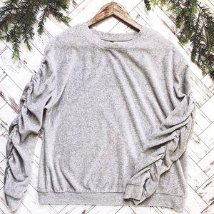 Islam Ruffle Sleeve Sweater